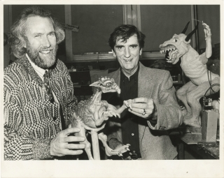 Original photograph of Jim Henson and Harry Dean Stanton, circa 1989. Jim Henson, Harry Dean...