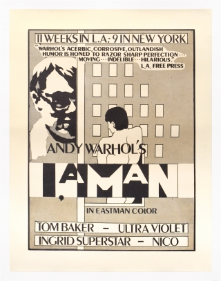 I, a Man (Original poster for the 1967 film). Andy Warhol, Nico Paul Morrissey Tom Baker, Bettina...