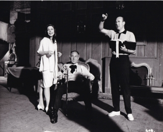 Enter Laughing (Original photograph of Carl Reiner, Elaine May, and Jose Ferrer on the set of the...