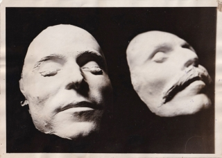 Original photograph of the Sacco and Vanzetti death masks, circa 1927. Nicola Sacco, Bartolomeo...