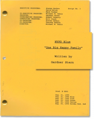 NYPD Blue: One Big Happy Family (Original screenplay for the 1995 television episode). Michael M....