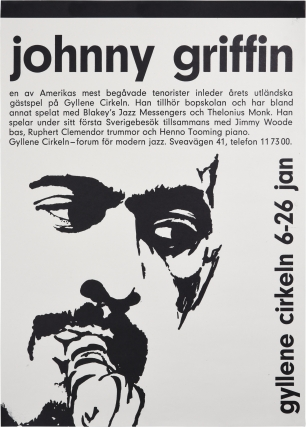Original poster for a performance by the Johnny Griffin Quartet, circa 1960s. Johnny Griffin,...