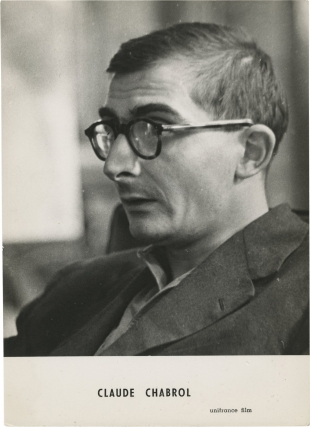Original portrait photograph of Claude Chabrol, circa 1960. Claude Chabrol, subject