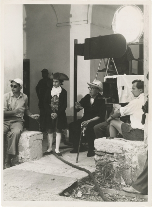Napoleon (Two original photographs from the set of the 1955 film). Sacha Guitry, Edward Quinn,...
