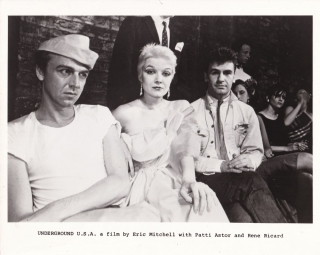 Underground U.S.A. (Original photograph from the set of the 1980 film). Eric Mitchell, Rene...