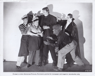 Abbott and Costello Meet Frankenstein (Original publicity photograph from the 1948 film). Charles...