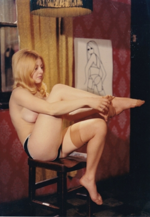 Naked England (Collection of three original photographs from the 1969 sexploitation film)....