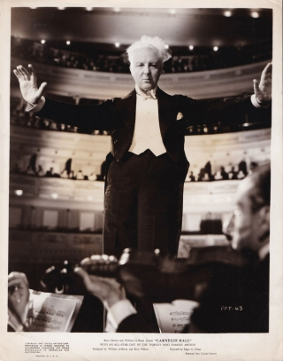 Carnegie Hall (Original photograph of Leopold Stokowski from the 1947 film). Edgar G. Ulmer,...