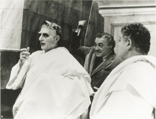 Fellini's] Roma (Original photograph of Federico Fellini and Feodor Chaliaplin Jr. from the set...