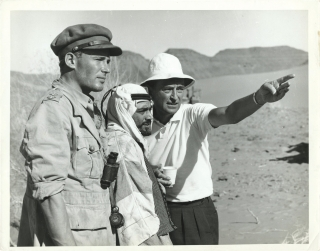 Lawrence of Arabia (Original photograph Peter O'Toole, Gamil Ratib, and David Lean on the set of...