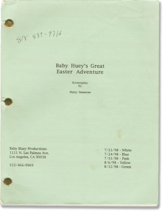 Baby Huey's Great Easter Adventure (Original screenplay for the 1999 film). Stephen Furst, Matty...