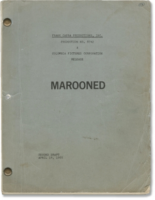 Marooned (Original screenplay for an unproduced film, 1965). Frank Capra, Walter Newman, Martin...