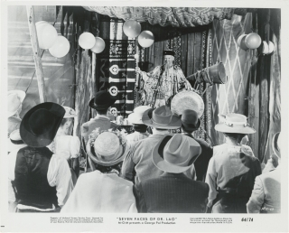 7 Faces of Dr. Lao (Collection of eight original photographs from the 1964 film). George Pal,...