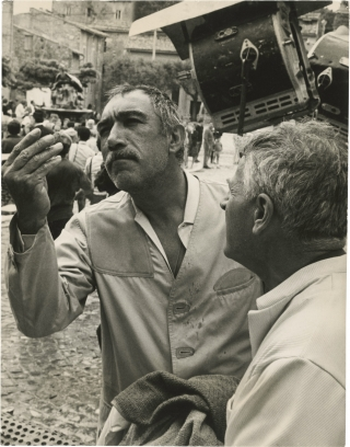 The Secret of Santa Vittoria (Original photograph of Anthony Quinn and Stanley Kramer from the...