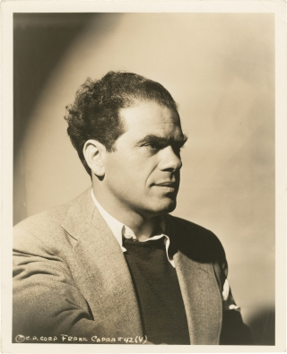 Lost Horizon (Original press portrait photograph of Frank Capra promoting the 1937 film). Frank...