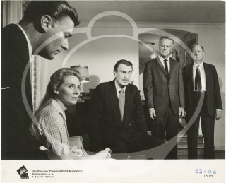 Advise and Consent (Original photograph from the 1962 film). Otto Preminger, Allen Drury, Wendell...