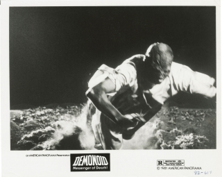 Demonoid [Demonoid: Messenger of Death] (Two original photographs from the 1981 film). Alfredo...