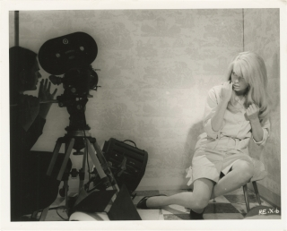 Repulsion (Two original photographs from the set of the 1965 film). Roman Polanski, Laurie...