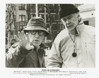 Crimes and Misdemeanors (Original photograph of Woody Allen and Sven Nykvist from the set of the...