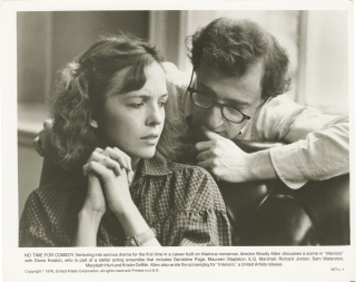 Interiors (riginal photograph of Diane Keaton and Woody Allen from the set of the 1978 film)....