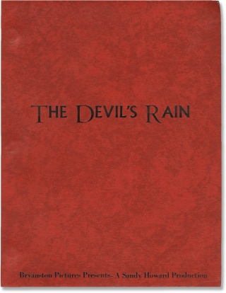 The Devil's Rain (Original screenplay for the 1975 film). Robert Fuest, James Ashton Gabe Essoe,...