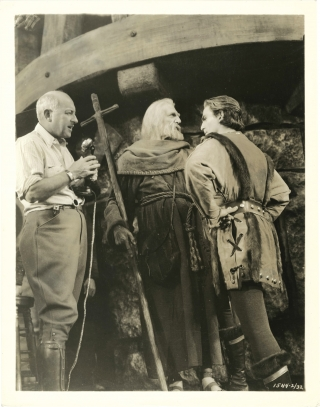 The Crusades (Two original photographs of Cecil B. DeMille from the set of the 1935 film). Cecil...