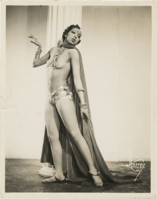 Original photograph of Josephine Baker, circa 1930. Josephine Baker, Murray Korman, subject,...