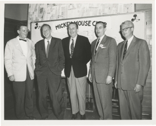 "Original photograph of Walt Disney with potential sponsors for ""The Mickey Mouse Club"" television..."