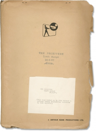 The Deceivers (Original screenplay for an unproduced film, John Masters' annotated working copy)....