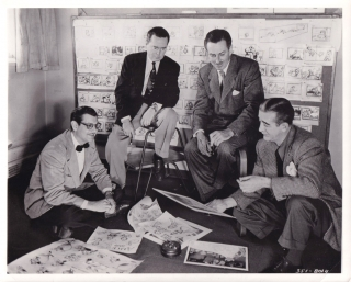 Alice in Wonderland (Original photograph of Walt Disney, Winston Hibler, Erdman Penner, and Ted...