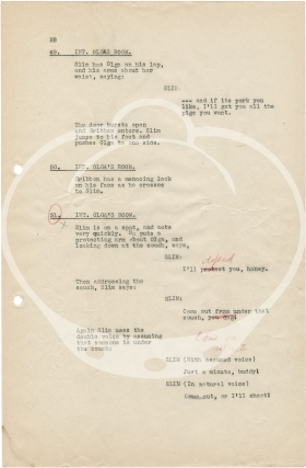 Archive of 19 original screenplays for comedy shorts starring Slim Summerville, 1930-1932