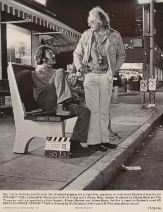 Straight Time (Original photograph of Dustin Hoffman and Ulu Grosbard on location for the 1978...