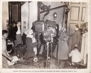 The Heiress (Original photograph of William Wyler, Betty Linley, and Ralph Richardson on the set...