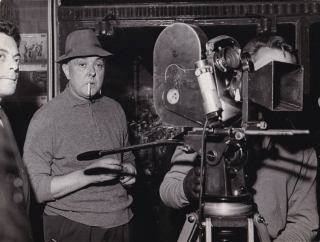Mon Oncle (Original photograph of Jacques Tati on the set of the 1958 film). Jacques Tati,...