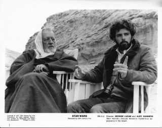 Star Wars: Episode IV: A New Hope (Original photograph from the set of the 1977 film). George...