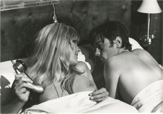 The Sicilian Clan (Two original photographs from the 1969 film). Karen Blanguernon Alain Delon,...