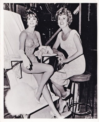Gypsy (Original photograph of Natalie Wood and Rose Louise Horick on the set of the 1962 film)....