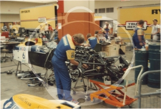 Archive of 120 vernacular photographs of the Detroit Grand Prix, 1986-1988