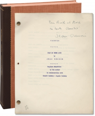 Carola (Original screenplay for an unproduced film, inscribed by Jean Renoir). Jean Renoir,...