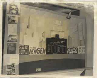 Archive of advertising and photographs for a custom mechanical scoreboard firm in Miami, Florida, circa 1940s