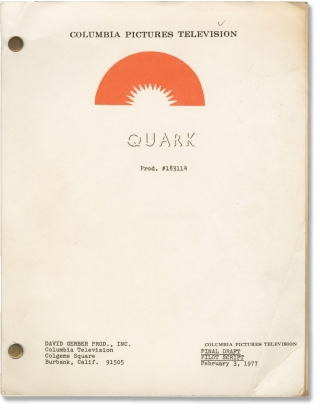 Quark (Original screenplay for the pilot of the 1977-1978 NBC television series). Buck Henry,...