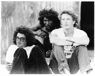 Countryman (Original photograph of Chris Blackwell, Dickie Jobson, and Countryman on the set of...