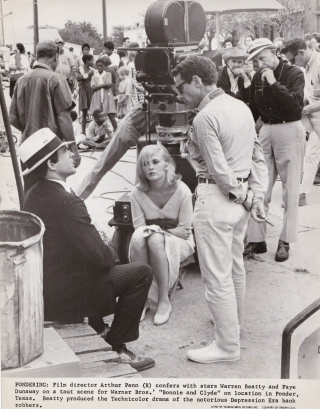 Bonnie and Clyde (Original photograph taken on the set of the 1967 film). Arthur Penn, Robert...