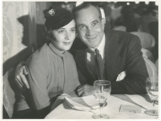 Original photograph of Al Jolson and Ruby Keeler, 1933. Al Jolson, Ruby Keeler, subjects