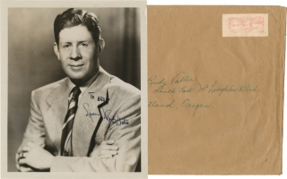 Original inscribed photograph of Rudy Vallee, circa 1953. Rudy Vallee, subject