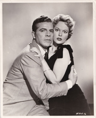 Curse of the Demon [Night of the Demon] (Original publicity photograph of Dana Andrews and Peggy...