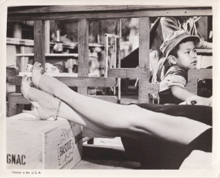 China Gate (Original photograph of Angie Dickinson from the 1957 film). Samuel Fuller, Angie...
