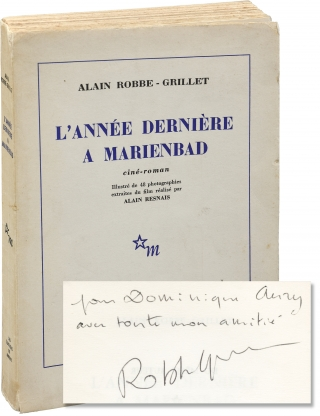 L'Annee Derniere en Marienbad (First Photoplay Edition, inscribed by Alain Robbe-Grillet). Alain...
