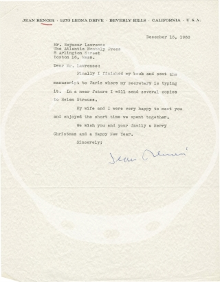 Collection of three typed letters signed to Seymour Lawrence, 1960-1961