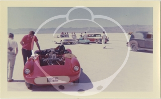 Archive of 163 vernacular photographs of speed runs at Bonneville, 1960-1963